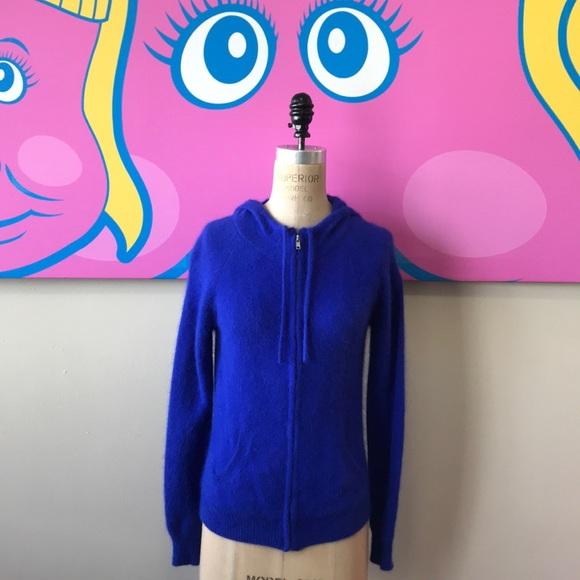 Moda International Royal Blue Rabbit Hair Sweater